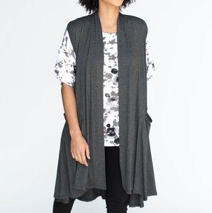 Agnes & Dora Cascade Vest Charcoal L